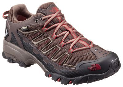 The North Face Ultra 109 GTX GORE-TEX Running Shoes for Men - Coffee Brown/Rosewood Red - 11.5 M