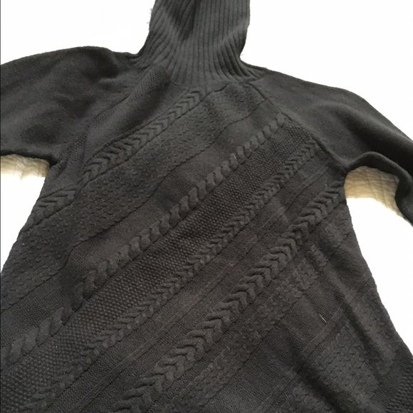 Soft Surroundings Tunic Sweater- NWOT Comfy soft surroundings tunic sweater in black. It is a true black- not faded. The lighting in my pics is off. Would look adorable with leggings and boots! Soft Surroundings Sweaters Cowl & Turtlenecks
