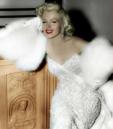 "MM pours on the glamour for the premiere of ""How to Marry a Millionaire""."