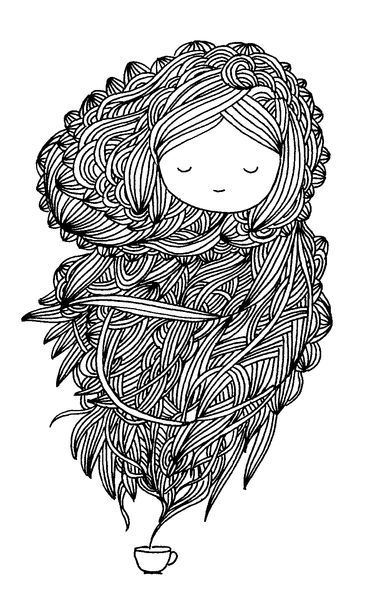 Storm in a tea cup c cile hudrisier drawing doodling illustration pinterest coloriage - Petit quick coloriage ...