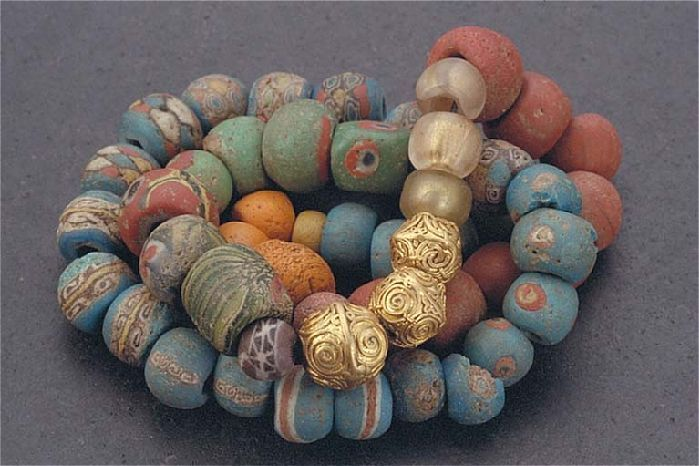 beads from Viking Age Gotland-these beads are so beautiful and detailed.  I'd love to have a replica set of these beads.