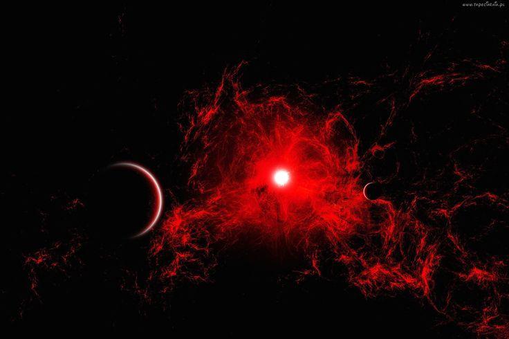 Kosmos, Planety, Czerwona, Mgławica