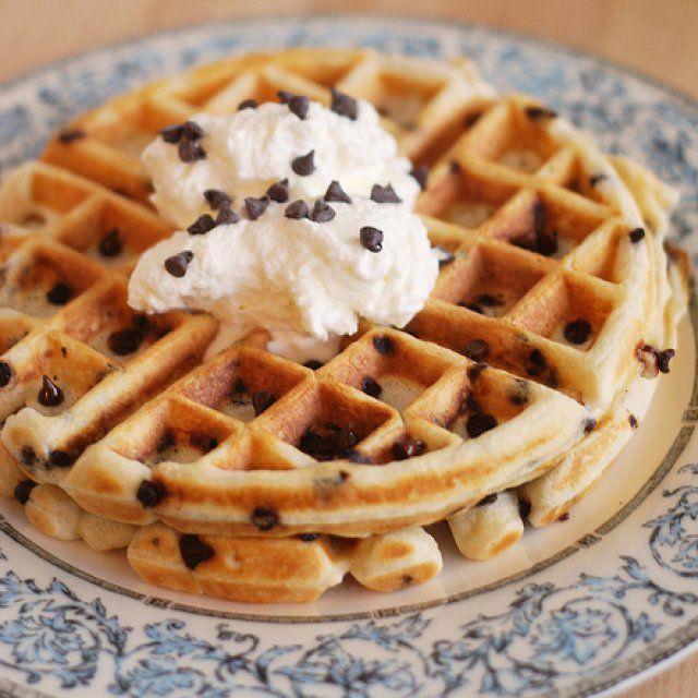 Waffles con Chispas de Chocolate