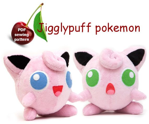 Jigglypuff plushie sewing pattern PDF