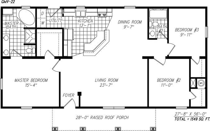 3454 Top One Level Open Floor Plans