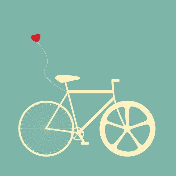 Bike Illustration Wall Print, Set of 4 by MorganMarieMakes, $25.00