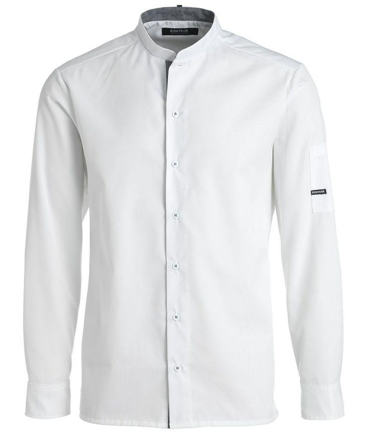 Kentaur unisex kokkeskjorte, hvid