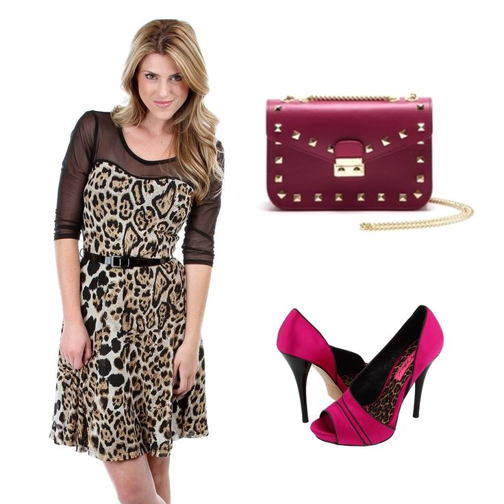 #OOTD: This fucsia #AnnaLuchini bag must worn with animal print!
