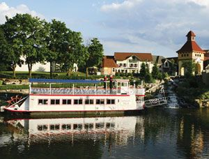 Frankenmuth, Michigan's Little Bavaria!  Willkommen!  (German welcome.)  A place of horse-drawn carriages and covered bridges. Of riverboat cruises and world famous chicken dinners.  And lots of great shopping!