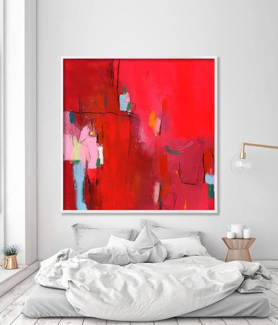 Abstract Art, Large wall art, Giclée print of Acrylic painting, abstract art print valentine's gift