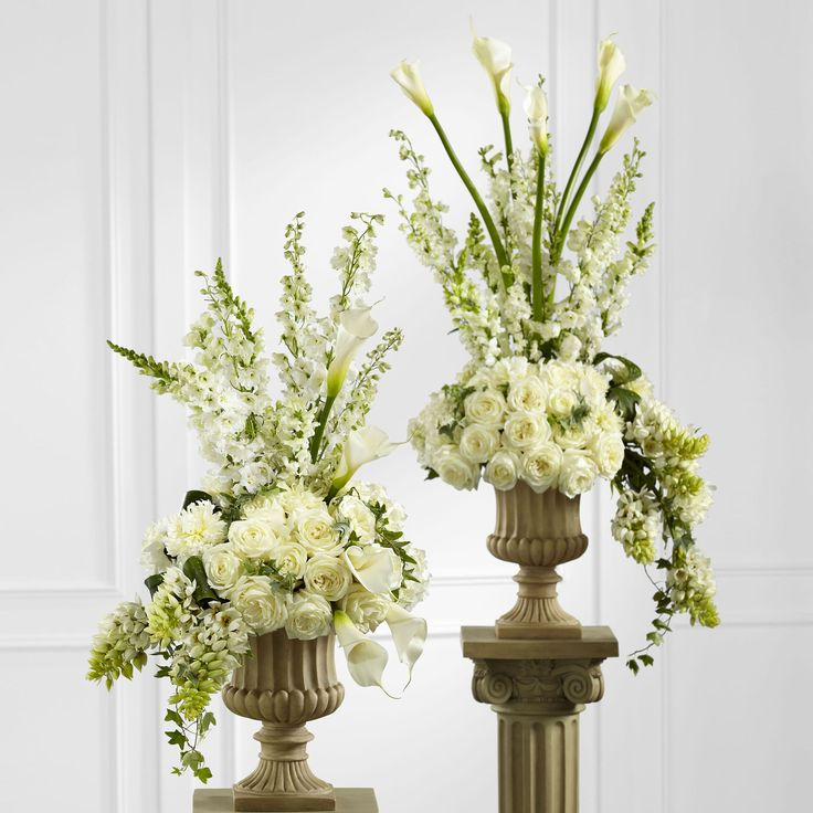 Altar Flowers Wedding Cost: 45 Best White Wedding Flowers Images On Pinterest
