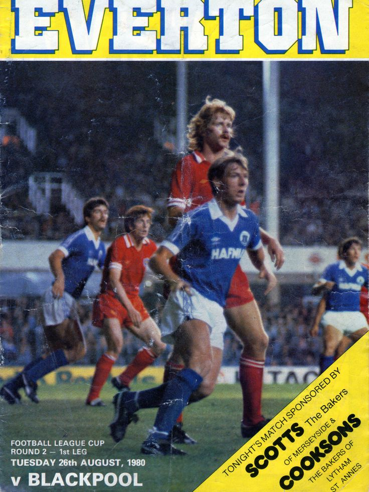 Everton v Blackpool August 26 1980 League Cup First Leg