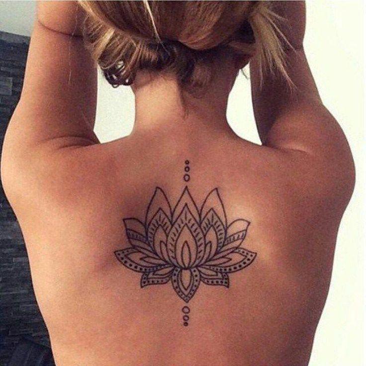 geometric tattoo - lotus floral