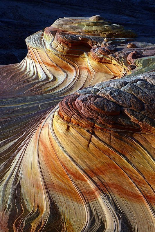 Sunset at the second Wave Coyote Butles North, Paria Vermilion Cliffs, Wilderness Arizona.