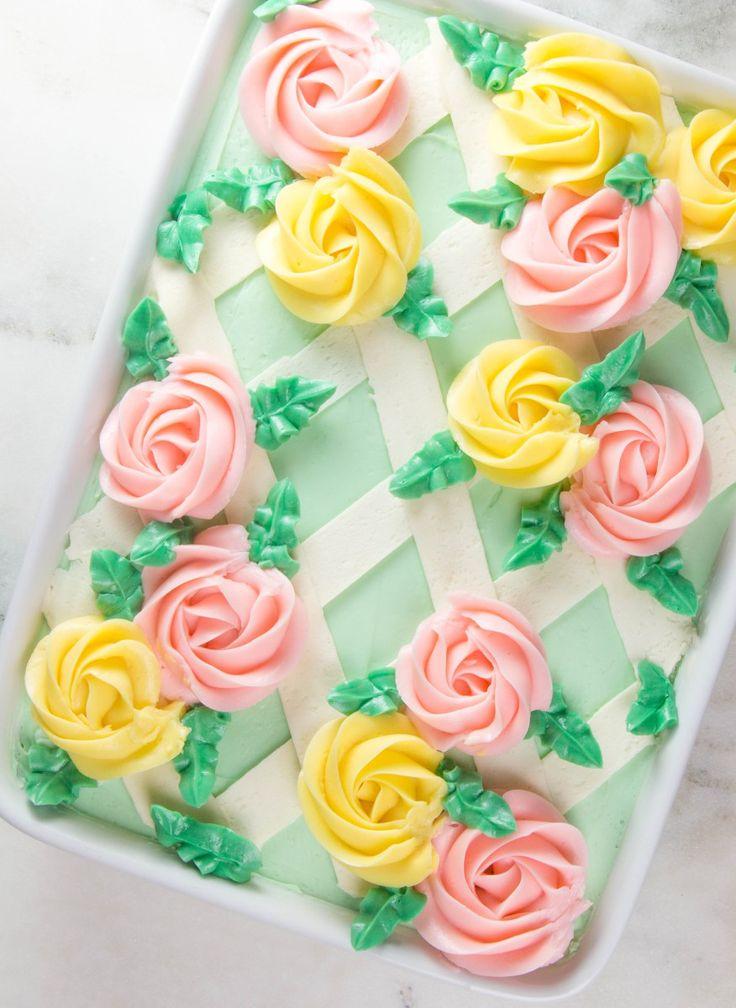 Easy As Sheet Cake: Buttercream Lattice Sheet Cake | Cake ...