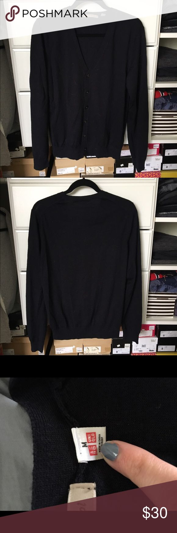 Uniqlo Cardigan Black cardigan previously worn but in good condition! Open to reasonable offers through feature! Uniqlo Sweaters Cardigan