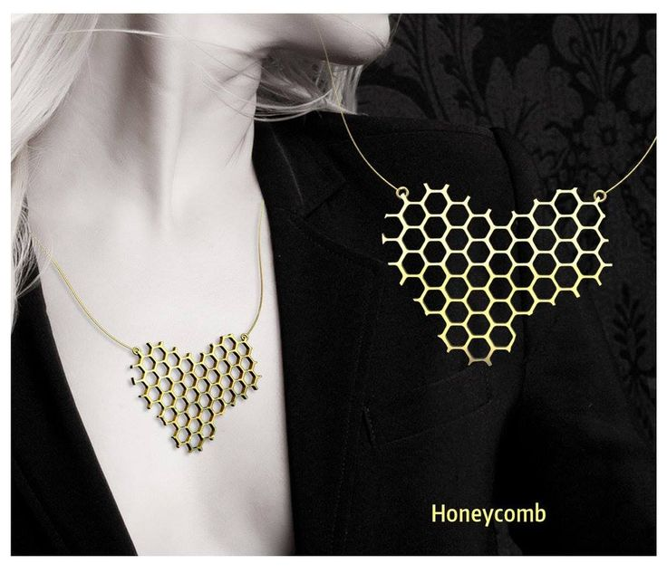 Honeycomb necklace design by Pedro