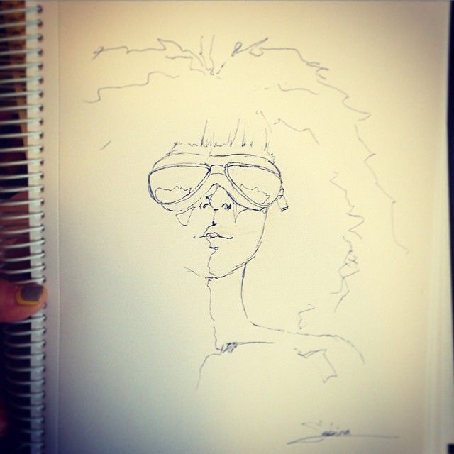 Goggles.  Trying to get back to drawing more.  #art #drawing #draw #doodling #doodle #goggle #sketchbook #erasblepen #simpledtawing