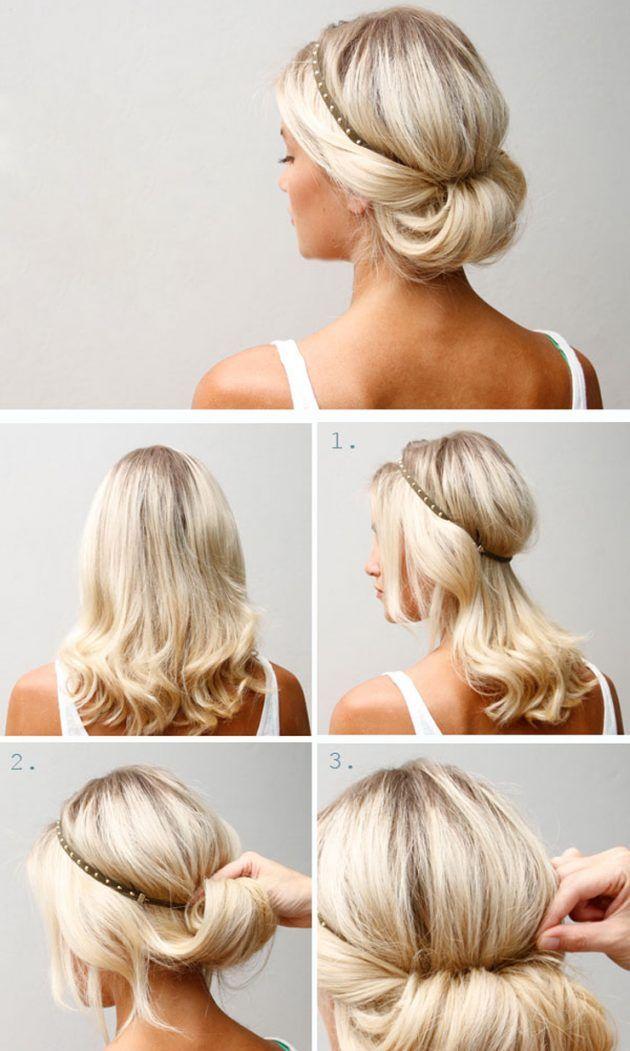 Причёска с ободком в греческом стиле