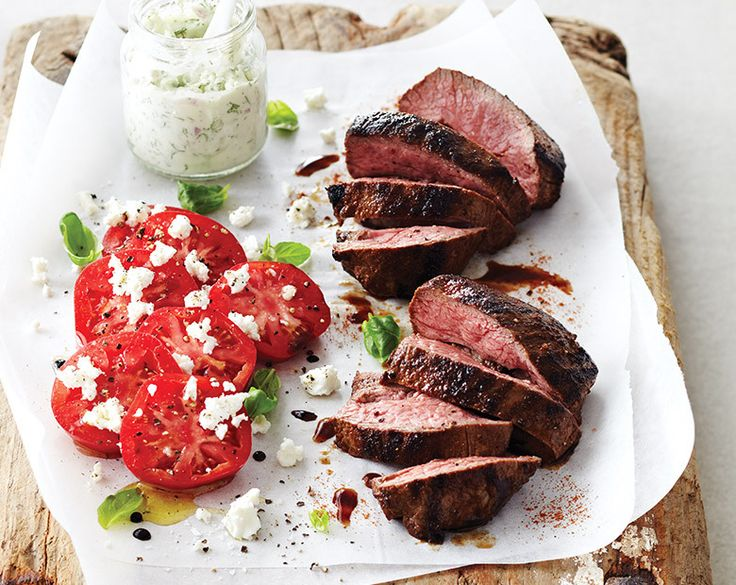 Char-grilled Lamb Rump with Tomato & Feta Salad Recipe | Beef + Lamb New Zealand