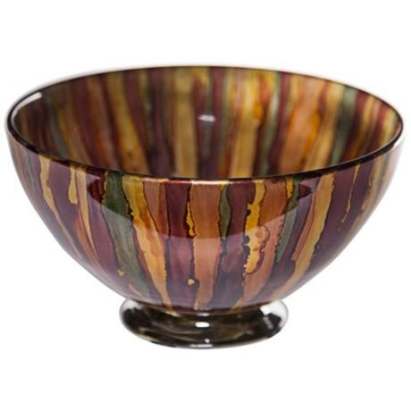 art glass burnished gold decorative bowl w6781 lampspluscom - Decorative Glass Bowls