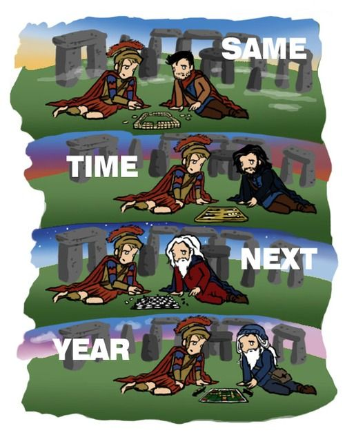 Oh, my goodness, this makes me soooo happy.  My boys weren't too lonely after all.  The Last Centurion and the Last Dragonlord had all kinds of adventures together. And I'm sure Merlin showed up at the Pond house for dinner periodically for the rest of their lives.<------Head Cannon Accepted!!