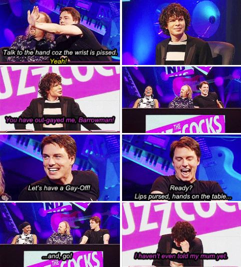 "When John Barrowman turned up and it went exactly as you'd expect. | 24 Perfect Simon Amstell Comebacks From ""Never Mind The Buzzcocks"""