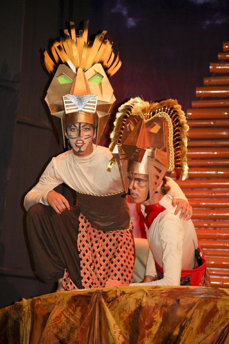 lion king costume created by students