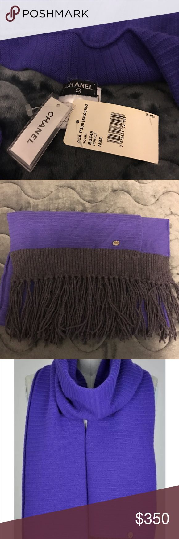 Pre Fall 2007 Paris Collection Cashmere Scarf This shawl is brand new with tags and in flawless condition. It is a gorgeous piece with beautiful detailing. Great timeless addition to your wardrobe.  Scarf/Shawl is 78 inches X 13 inches CHANEL Accessories Scarves & Wraps