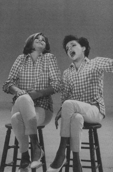 "mygirljoots: ""Judy Garland and Barbra Streisand singing Get Happy/Happy Days on The Judy Garland Show 1963. """