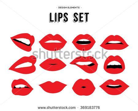Δωρεάν εικόνα στο Pixabay - Χείλη, Κόκκινο, Καρδιές, Emojis