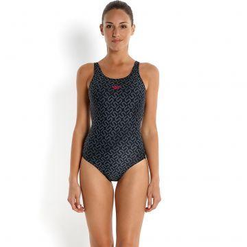 Endurance 10 Bayan Yüzücü Mayosu - Siyah/Gri
