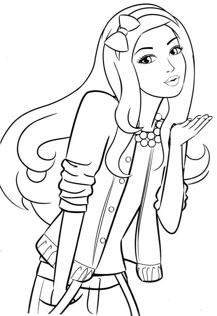 Barbie Barbie Coloring Pages Disney Princess Coloring Pages