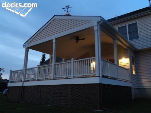 Roof Over Deck Ideas For Deck Pinterest Decking