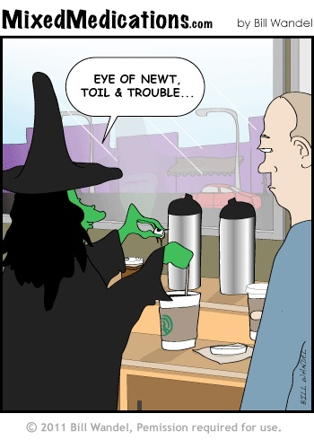 Charming Funny Witch Joke A Hmm Out Starbucks Good One For Halloween