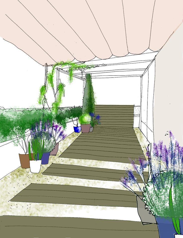 Mejores 131 im genes de dibujos croquis y planos de for Planos de jardines
