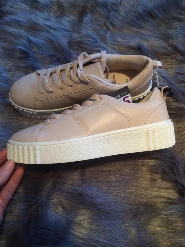 28f1e6da7a3 Primark Ladies Nude Chunky Platform Lace Up Trainers Plimsolls Shoes Size 5  | Ladies Shoes | Shoes, Plimsoll shoe, Lace up trainers