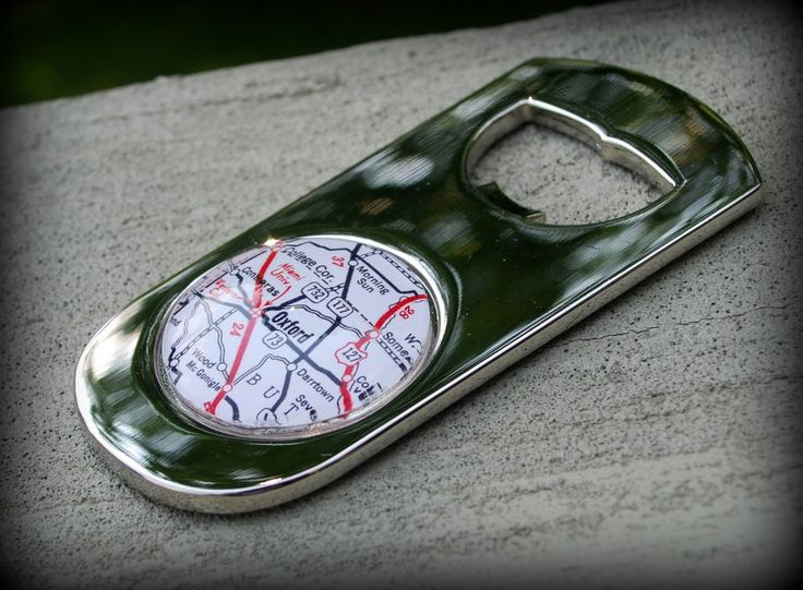 Miami University Oxford Map Bottle Opener