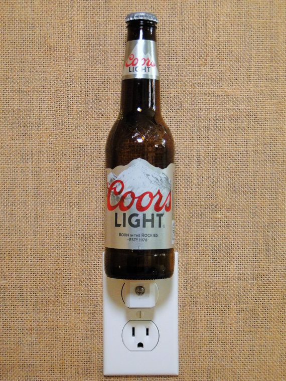 Coors Light 12oz. Glass Bottle Night Light by GlassBottleGuy
