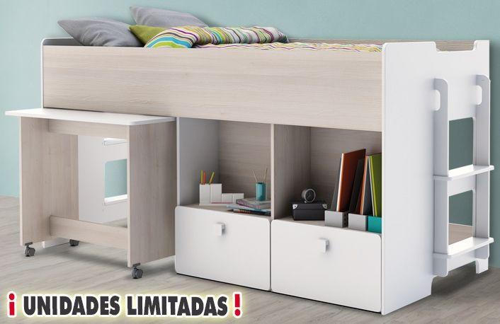 M s de 1000 ideas sobre cama alta en pinterest camas de for Muebles lufe estanterias