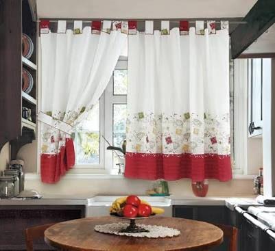 Картинки по запросу cortina estampada cocina