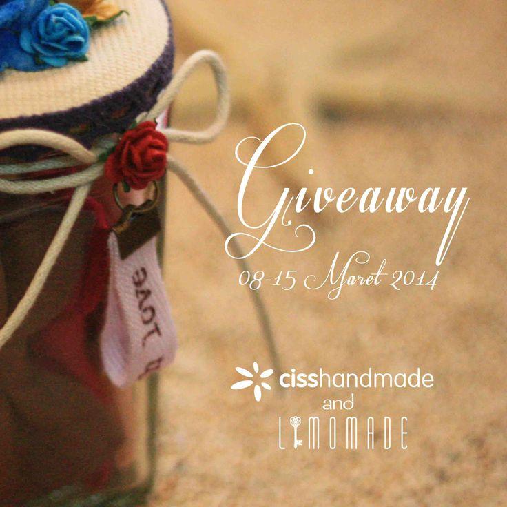 Kali ini Limomade ngadain Giveaway bareng Ciss Handmade, pemenang akan mendapatkan Bow in a a Jar-nya Ciss Handmade, cara ngedapetinnya gampang kok, check limo-made.blogspot.com Semoga beruntung :)