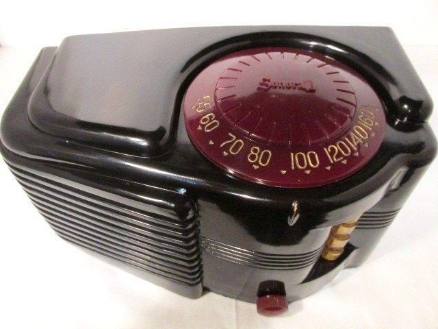 Sonora Black Bakelite Tube Radio Deco | eBay