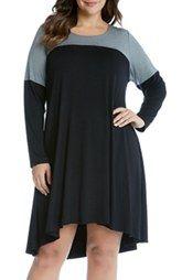 New Karen Kane Maggie Colorblock Trapeze Dress (Plus Size) online, New offer for Karen Kane Maggie Colorblock Trapeze Dress (Plus Size) @>>hoodress dress shop<<