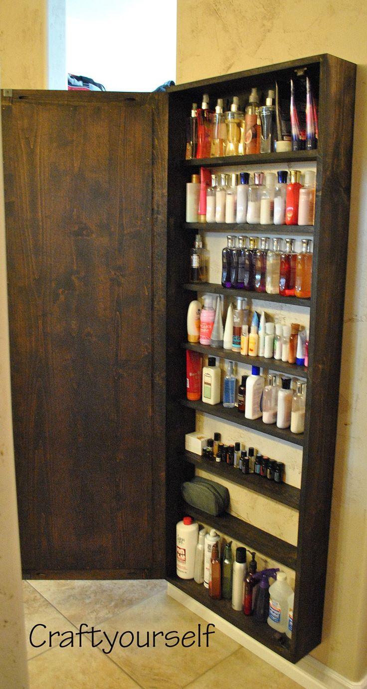 Diy reclaimed wood bathroom shelves edea smith - Diy Bathroom Cabinet With Mirror