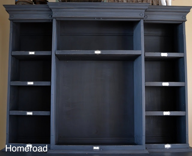 homeroad bin shelves on a hutch the painted cuboard