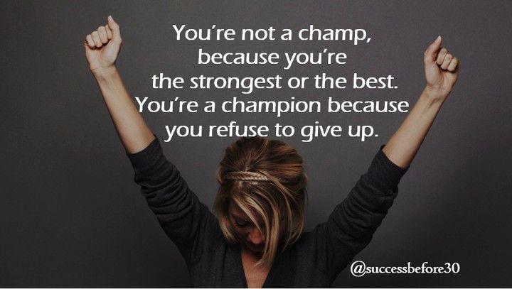 Anda bukanlah seorang pemenang karena anda adalah yang terkuat atau yang terbaik. Namun anda adalah pemenang karena anda menolak untuk menyerah.  Never give up !! #quote #instapicture #instajob #business #ilovemyjob #quoteoftheday #instadaily #instamood #instagood #picoftheday #photooftheday #successbefore30 #chandraputranegara
