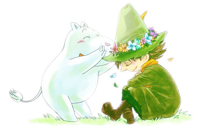 Snufkin and Moomin