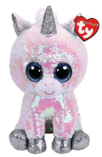Ty 19203  Ty Flippables Beanie Boos 6 Diamond The Unicorn White Pearl Mwmt  In Hand -  BUY IT NOW ONLY   27.99 on  eBay  flippables  beanie  diamond   unicorn ... 0db05508dc7b