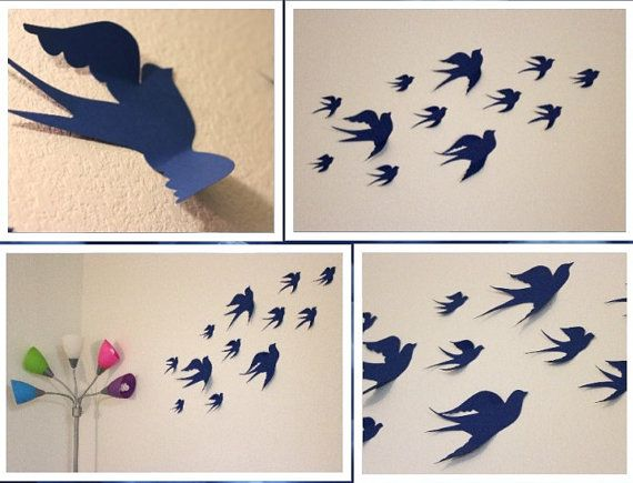 3d wall decor birds : Birds d wall decor art nursery bird